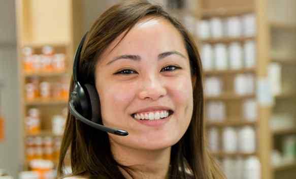 Insurance Billing girl Specialist wearing a headset
